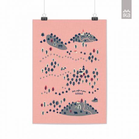 Artprint Lepi pozdravi | Teja Ideja