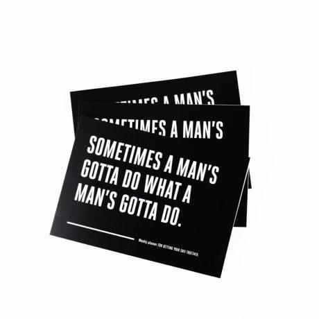 Moški rokovnik: Man's gotta do | Weekly planner Man's gotta