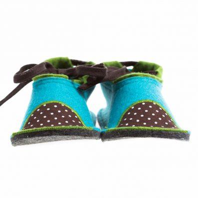Otroški copatki iz volnenega filca | Kid's woolen felted slippers