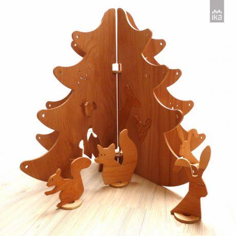 "Lesena jelka ""Gozdni sprehod"" L | Wooden Christmas tree ""Forest Walk"" L"