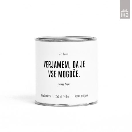 Sojina sveča: Sem kar mislim | Soy candle: I am what I think