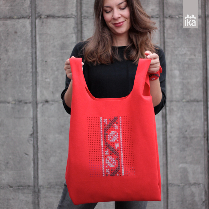 Sodobna vezena torba | Conteporary handbag traditionaly embroide