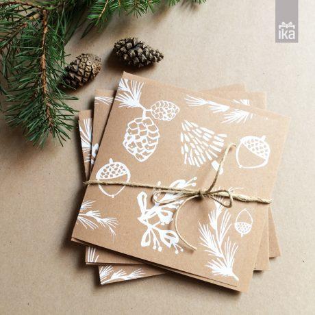 Praznične voščilnice Klavdije Zupanc | Hand printed cards