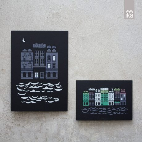 Grafika Mesečina | Moonlight illustrations  | TejaIdeja