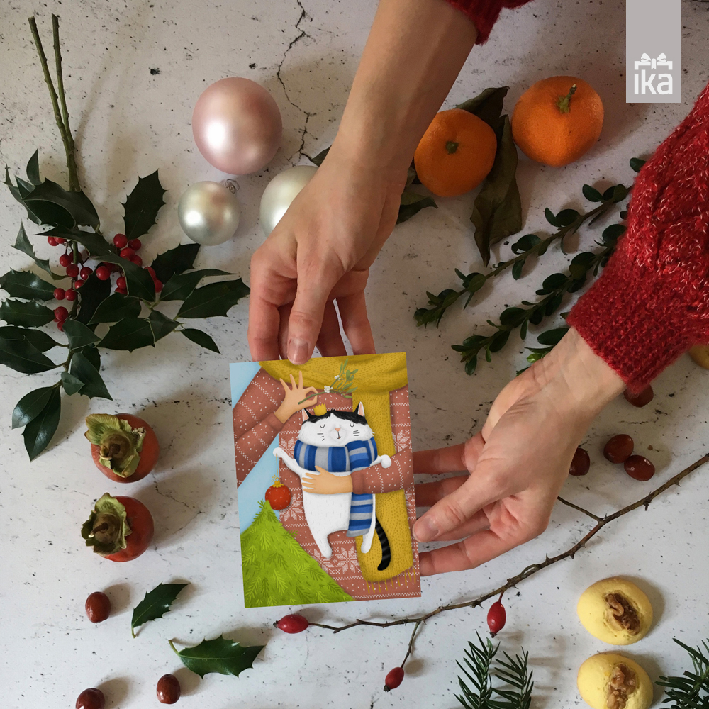 Nina Kovacic   novoletne kartice in voščilnice   Hands collection