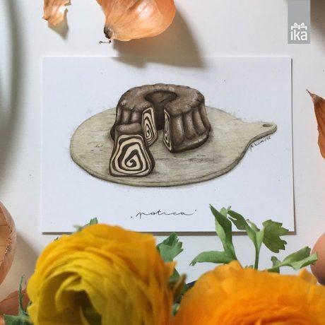 Kartica Potica | Nina Kovacic Ilustration | Potica card