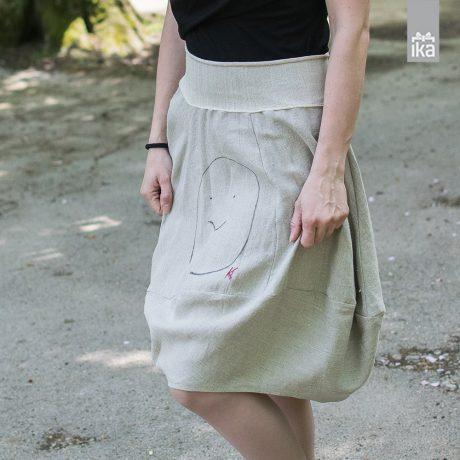 Laneno krilo | Ika Renčelj | Flax skirt