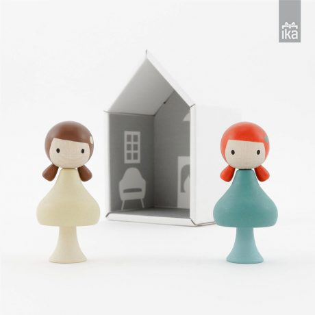 CLICQUES | Lesene figure | Wooden peg dolls