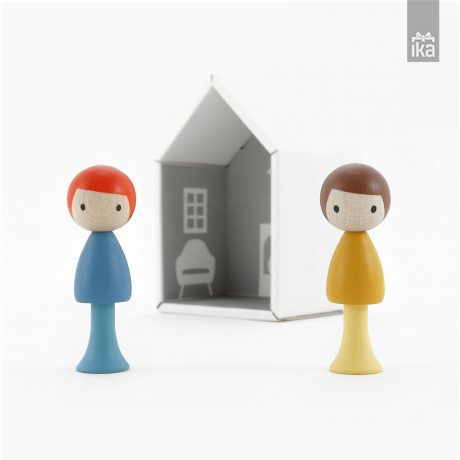 CLICQUES | Lesene figure | Wooden peg dolls