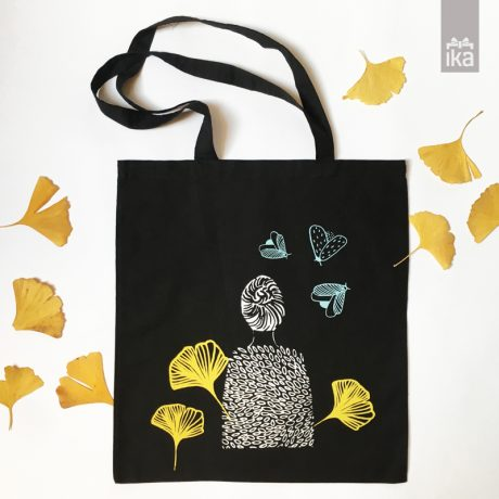 Handprinted bag Spring | Vrečka Pomlad